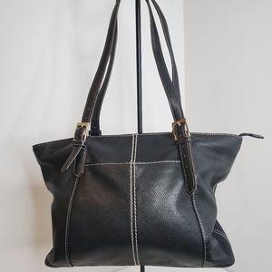 Tignanello Black Leather Shoulder Bag